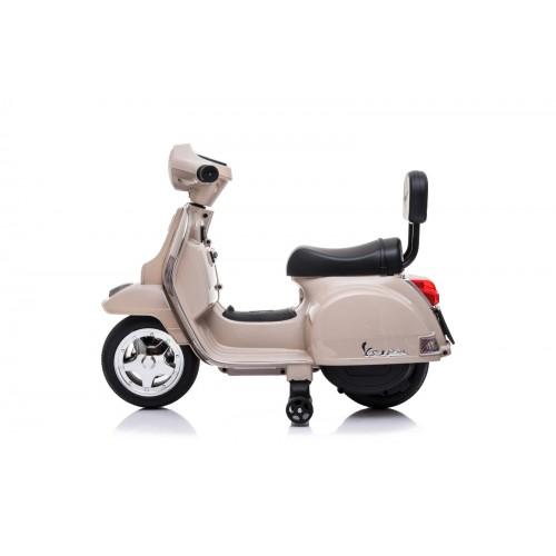 Ηλεκτροκίνητη παιδική Vespa Licensed PX150 6V σε μπεζ 13008 ΠΑΙΧΝΙΔΙΑ