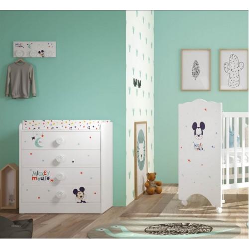Βρεφικό Κρεβάτι-Κούνια Baby Mickey Mouse 120Μx65,5Πx120Υ KR-00222 ΠΑΙΔΙΚΟ ΔΩΜΑΤΙΟ