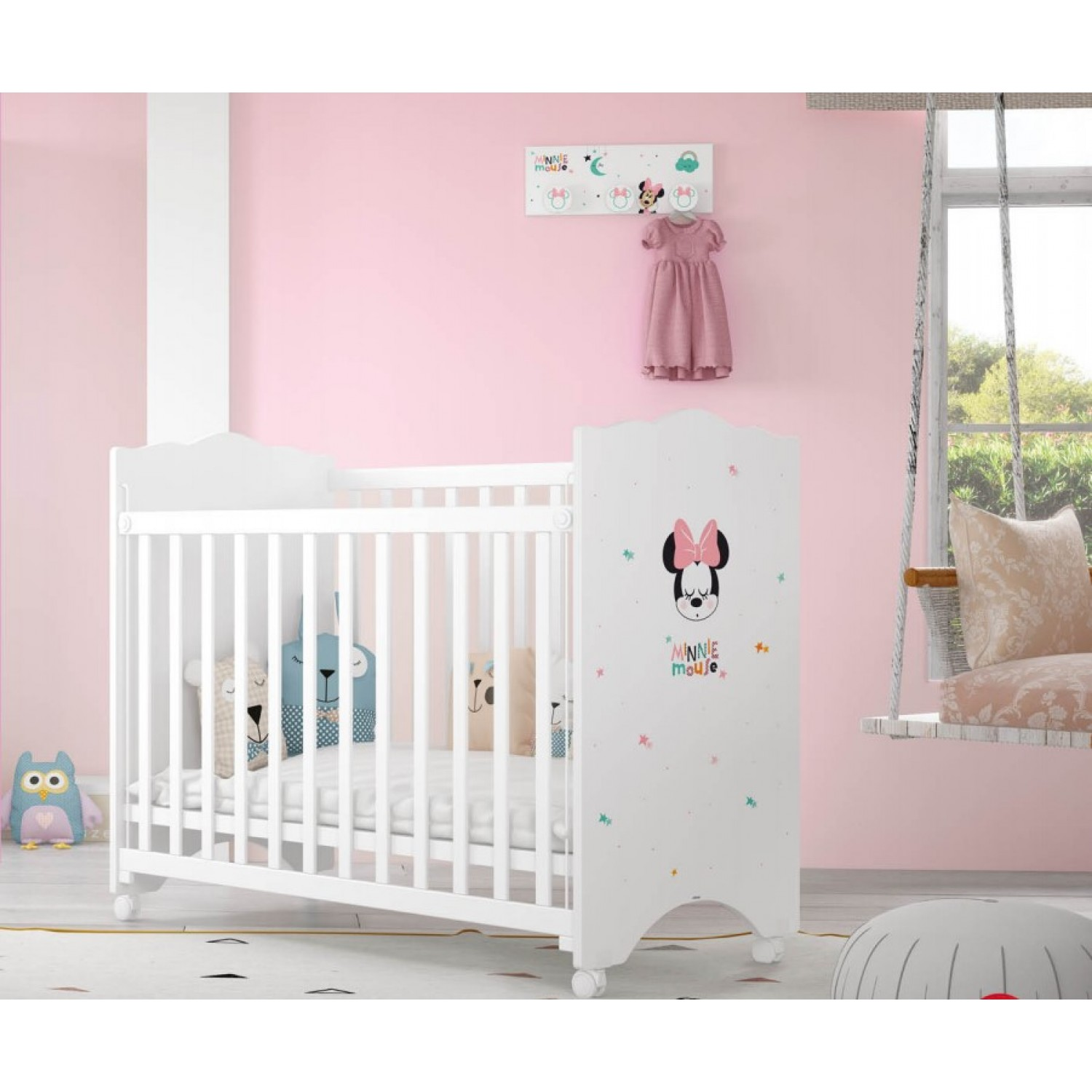d0b07c1d897 ... Βρεφικό Κρεβάτι-Κούνια Baby Minnie Mouse 120Μx65,5Πx120Υ KR-00232  ΠΑΙΔΙΚΟ ΔΩΜΑΤΙΟ