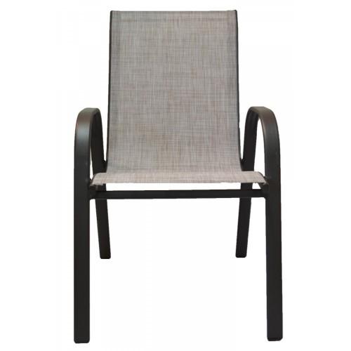 Καρέκλα έπιπλα κήπου-βεράντας μεταλλική Καφέ ανοιχτό Νίσυρος 8542-3 ΕΠΙΠΛΑ ΚΗΠΟΥ