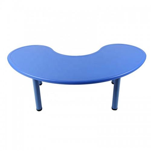 Παιδικό Τραπέζι πλαστικό μισοφέγγαρο σε μπλε χρώμα 026201 ΠΑΙΧΝΙΔΙΑ