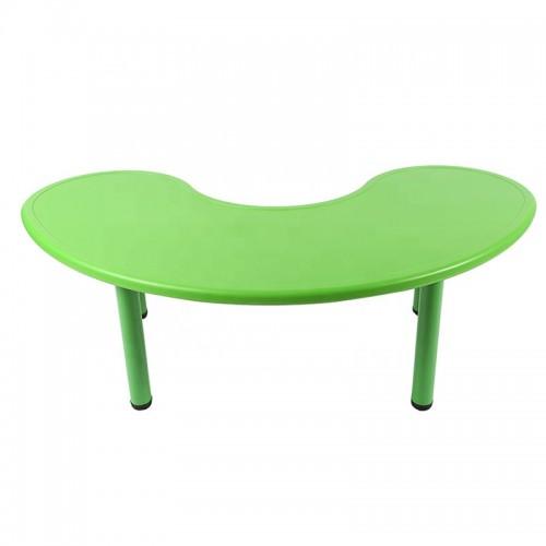 Παιδικό Τραπέζι πλαστικό μισοφέγγαρο σε πράσινο χρώμα 026201 ΠΑΙΧΝΙΔΙΑ
