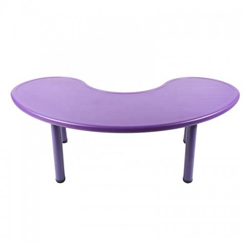 Παιδικό Τραπέζι πλαστικό μισοφέγγαρο σε μωβ χρώμα 026201 ΠΑΙΧΝΙΔΙΑ