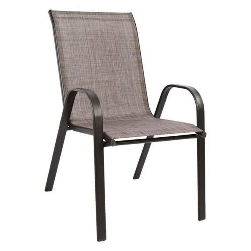 Dalia2 04-0613 Καρέκλα μεταλλική Καφέ ΚΗΠΟΣ