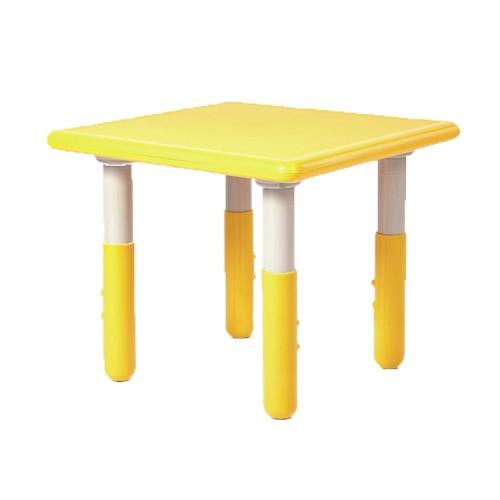 Παιδικό Τραπέζι πλαστικό τετράγωνο με ρύθμιση ύψους 60x60cm κίτρινο TB1247 ΠΑΙΧΝΙΔΙΑ