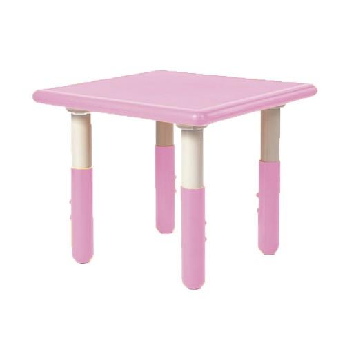 Παιδικό Τραπέζι πλαστικό τετράγωνο με ρύθμιση ύψους 60x60cm ροζ TB1247 ΠΑΙΧΝΙΔΙΑ