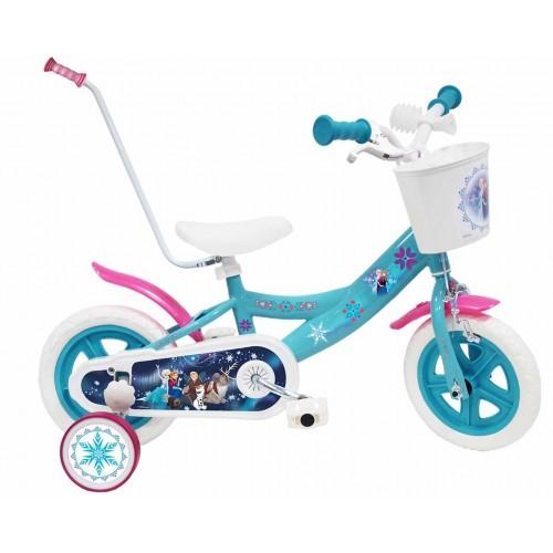 Ποδήλατο FROZEN 10 ίντσες σε Γαλάζιο με Μπάρα Ώθησης 17271-10 Ποδήλατα