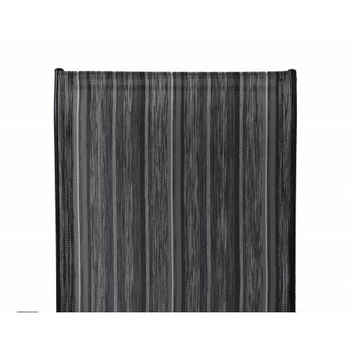 Σετ τραπεζαρία 3τμχ τραπέζι Φ60 μαύρο 2 καρέκλες Elegant Bl-Line ριγέ 8542-60-3-10 ΕΠΙΠΛΑ ΚΗΠΟΥ