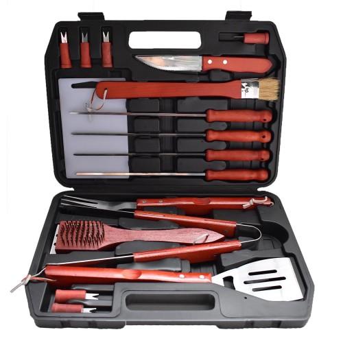 17 τεμ Εργαλεία για μπάρμπεκιου Ανοξείδωτο χάλυβα Forall BBQ PTS17N Είδη Κουζίνας