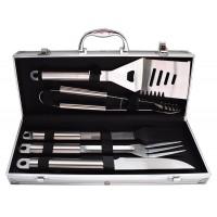 5 τεμ Εργαλεία για μπάρμπεκιου Ανοξείδωτο χάλυβα BBQ