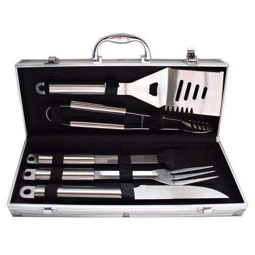 5 τεμ Εργαλεία για μπάρμπεκιου Ανοξείδωτο χάλυβα Forall BBQ PC08 Είδη Κουζίνας