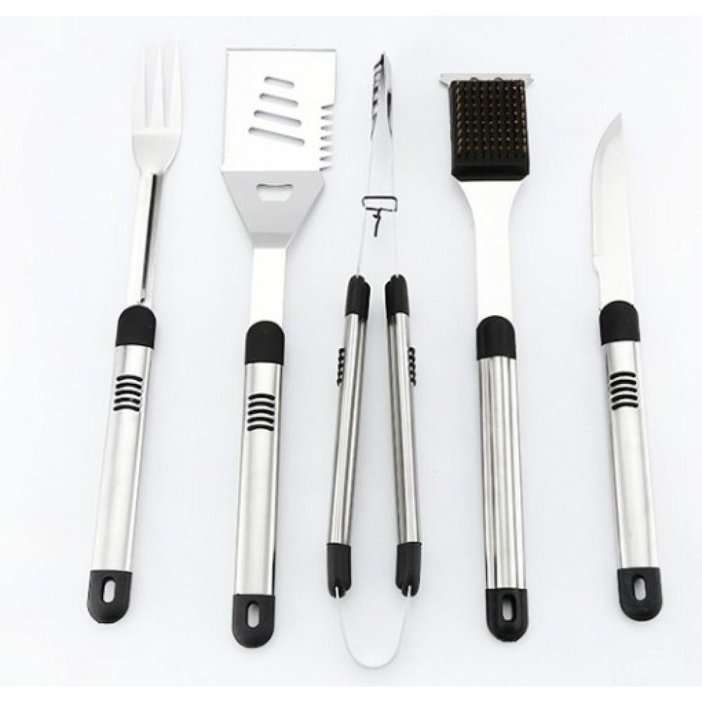 18 τεμ Εργαλεία για μπάρμπεκιου Ανοξείδωτο χάλυβα BBQ