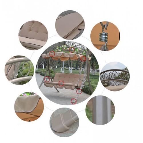 Siera Κούνια-Κρεβάτι Τριθέσια Μεταλλική με Σκίαση 2003-2 Μπεζ