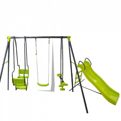 Σετ Κούνια Multiplay και τσουλήθρα παιδική χαρά 5298-90