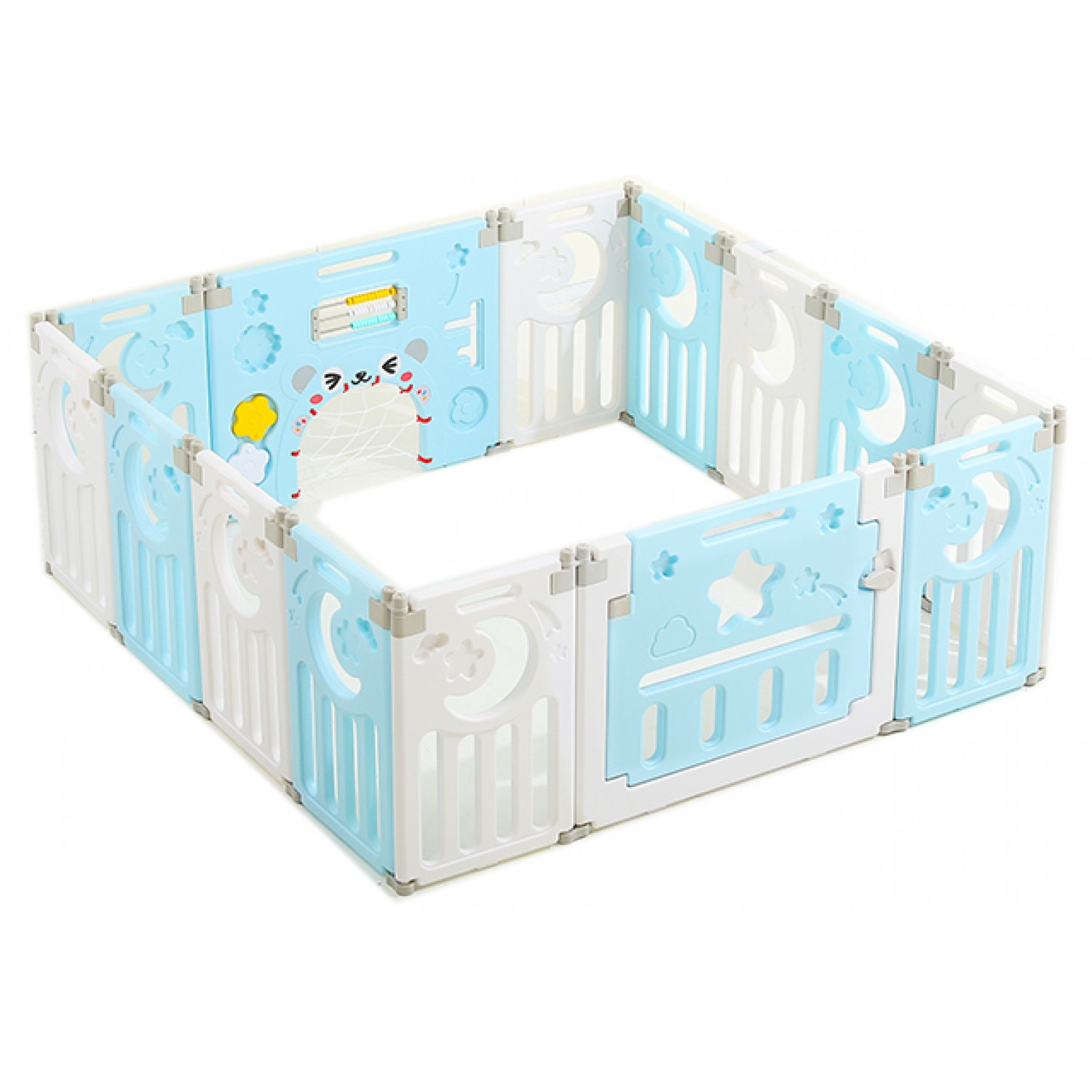 Plastic Children S 220x220cm Removable Indoor Playground Plastic Baby Play Fence With Best Quality Forall In Blue White Color Ocwl 1 8b