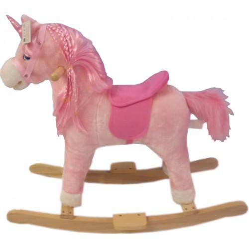 Κουνιστό Αλογάκι Ροζ με ήχους WJ3050 ΠΑΙΧΝΙΔΙΑ