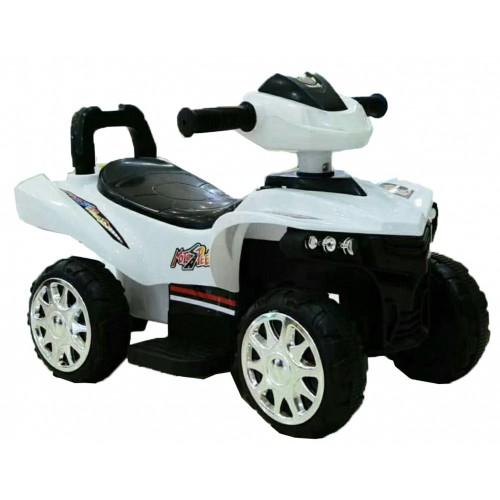 Ηλεκτροκίνητη Γουρούνα Παιδική ATV 6V Λευκή Forall 1388 Ηλεκτροκίνητα αυτοκίνητα