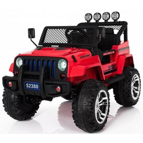 Ηλεκτροκίνητο Παιδικό Αυτοκίνητο Διθέσιο- Jeep 4Χ4 12V σε Κόκκινο S-2388 Ηλεκτροκίνητα αυτοκίνητα