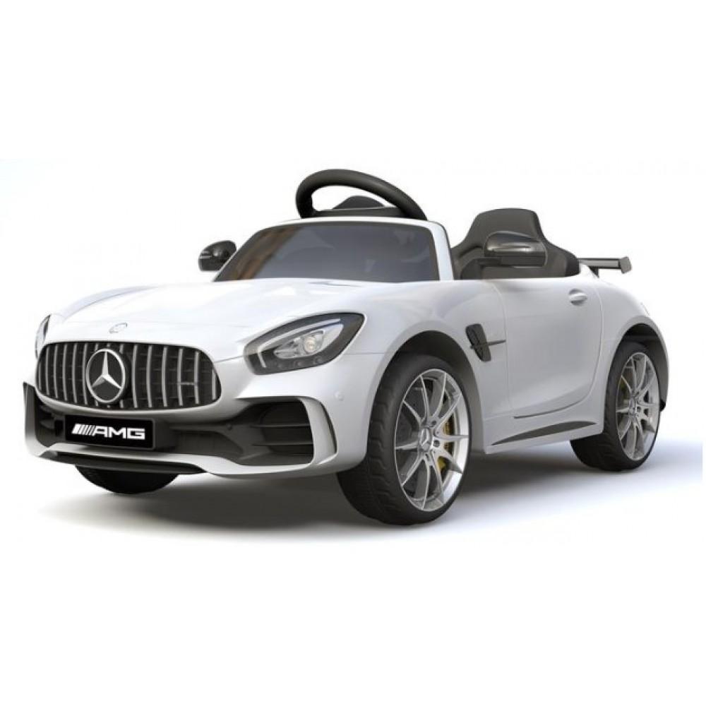 Εκθεσιακό Ηλεκτροκίνητο Παιδικό Αυτοκίνητο MERCENDES-BENZ 12V σε Λευκό HL288