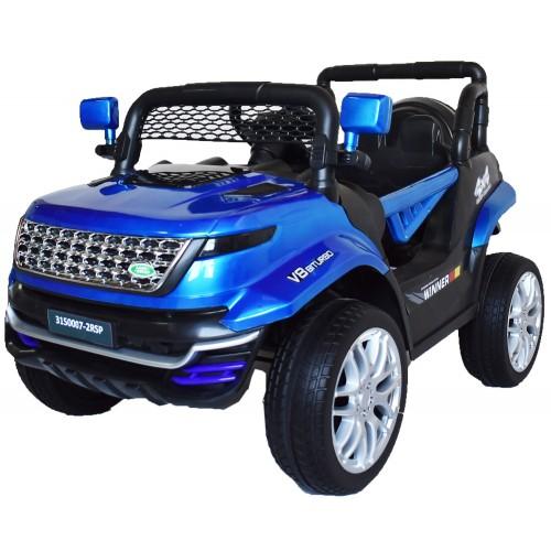 Ηλεκτροκίνητο Παιδικό Αυτοκίνητο Τύπου Land Rover 12V με λάστιχα τύπου αυτοκινήτου σε Μπλε 74528B Ηλεκτροκίνητα αυτοκίνητα