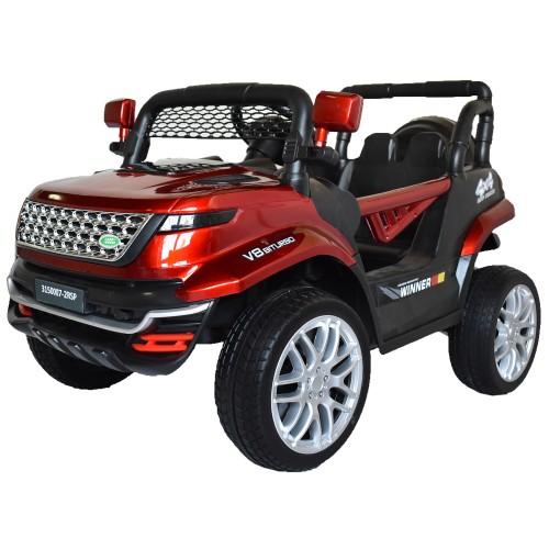 Ηλεκτροκίνητο Παιδικό Αυτοκίνητο Τύπου Land Rover 12V με λάστιχα τύπου αυτοκινήτου σε Κόκκινο 74528R Ηλεκτροκίνητα αυτοκίνητα