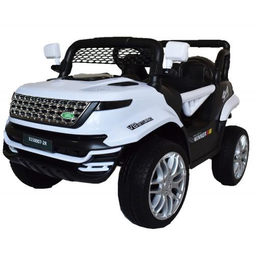 Ηλεκτροκίνητο Παιδικό Αυτοκίνητο Τύπου Land Rover 12V με λάστιχα τύπου αυτοκινήτου σε Λευκό 74528W Ηλεκτροκίνητα αυτοκίνητα