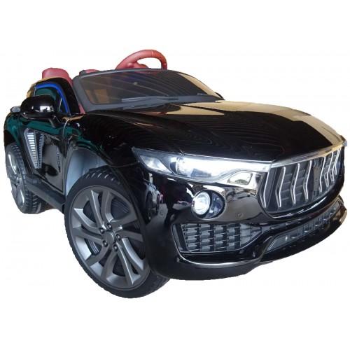 Ηλεκτροκίνητο Παιδικό Αυτοκίνητο Τύπου Maserati 12V με δερμάτινα καθίσματα και ελαστικά τύπου Αυτοκινήτου σε Μαύρο χρώμα 213820 Ηλεκτροκίνητα αυτοκίνητα