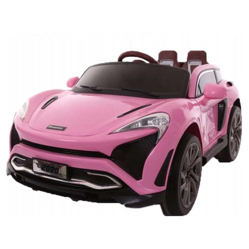 Ηλεκτροκίνητο Παιδικό Αυτοκίνητο Τύπου Porsche 12V με δερμάτινα καθίσματα και ελαστικά τύπου Αυτοκινήτου σε Ροζ χρώμα 133820