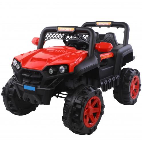 Ηλεκτροκίνητο Παιδικό Αυτοκίνητο τύπου Jeep 12V σε Κόκκινο Χρώμα 301386 Ηλεκτροκίνητα αυτοκίνητα