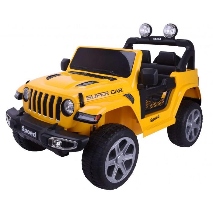 Εκθεσιακό Ηλεκτροκίνητο παιδικό αυτοκίνητο τύπου Jeep Wrangler Rubicon 12V σε Κίτρινο 3930053