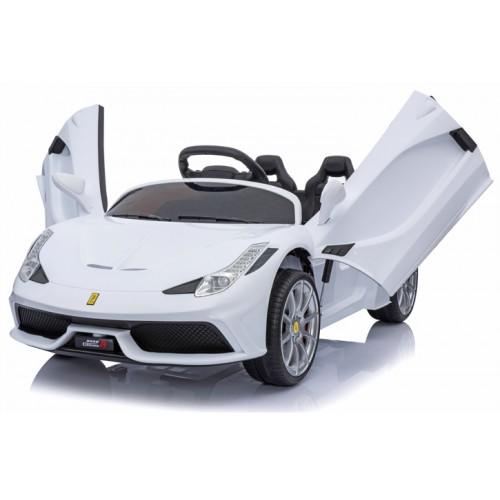 New Edition τύπου Ferrari 12V 8858 Ηλεκτροκίνητο Παιδικό Αυτοκίνητο Λευκό Ηλεκτροκίνητα αυτοκίνητα