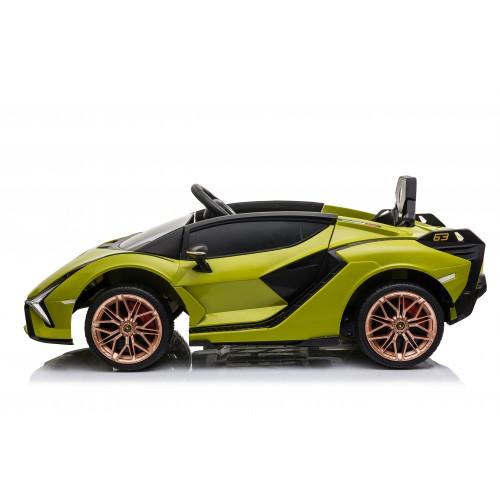 Ηλεκτροκίνητο Παιδικό Αυτοκίνητο Licensed Lamborghini Sian 12V σε Πράσινο Χρώμα 6388 Ηλεκτροκίνητα αυτοκίνητα