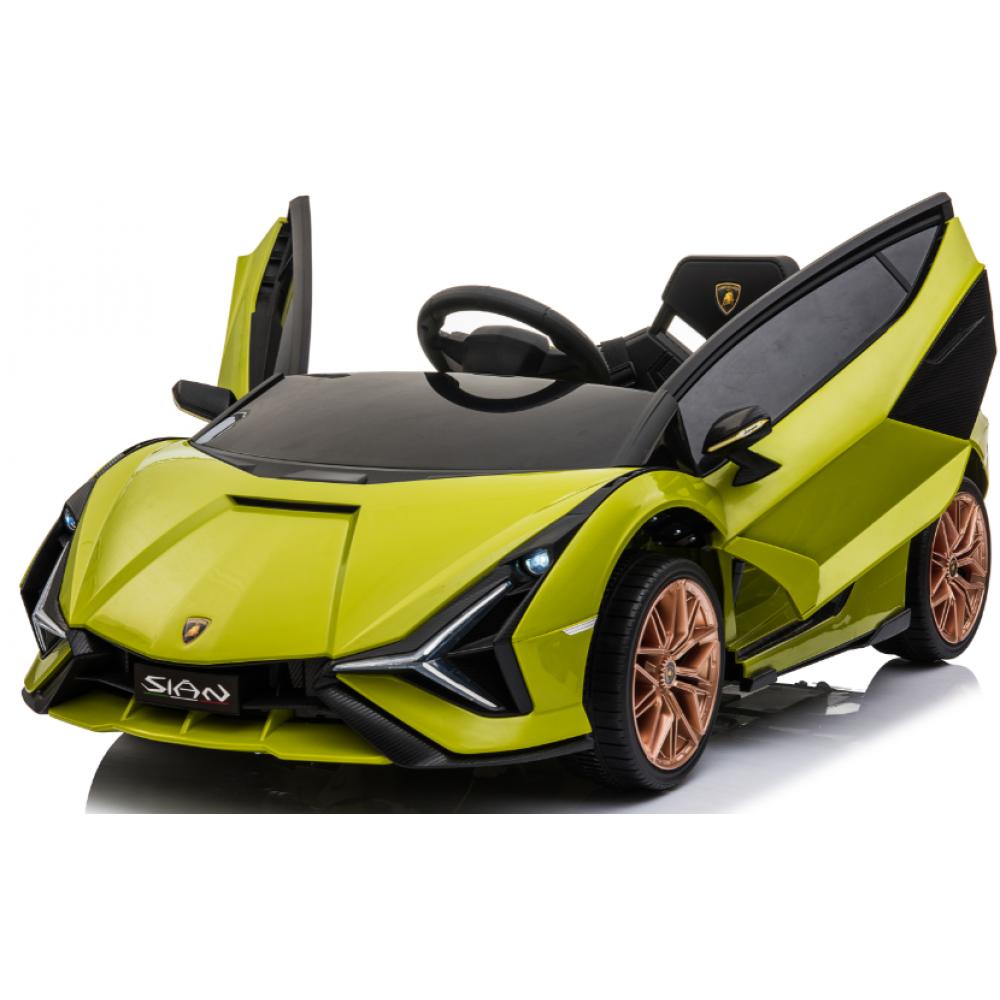 Ηλεκτροκίνητο Παιδικό Αυτοκίνητο Licensed Lamborghini Sian 12V σε Πράσινο Χρώμα 6388