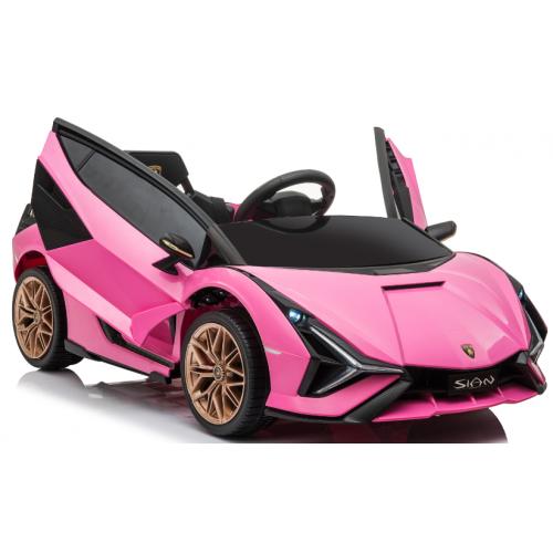 Ηλεκτροκίνητο Παιδικό Αυτοκίνητο Licensed Lamborghini Sian 12V σε Ροζ Χρώμα 6388