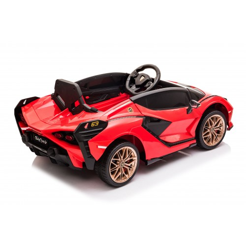 Ηλεκτροκίνητο Παιδικό Αυτοκίνητο Licensed Lamborghini Sian 12V σε Κόκκινο Χρώμα 6388 Ηλεκτροκίνητα αυτοκίνητα