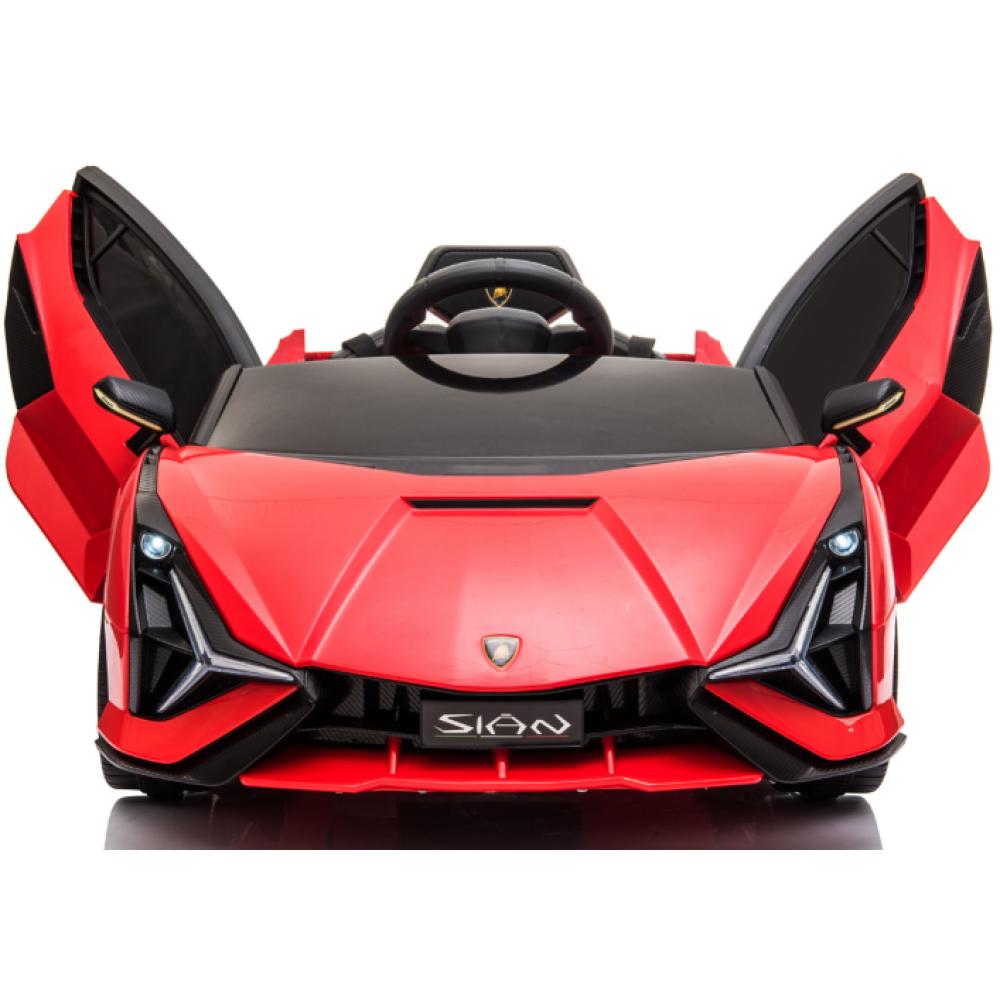 Ηλεκτροκίνητο Παιδικό Αυτοκίνητο Licensed Lamborghini Sian 12V σε Κόκκινο Χρώμα 6388