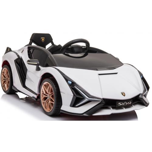 Ηλεκτροκίνητο Παιδικό Αυτοκίνητο Licensed Lamborghini Sian 12V σε Λευκό Χρώμα 6388 Ηλεκτροκίνητα αυτοκίνητα