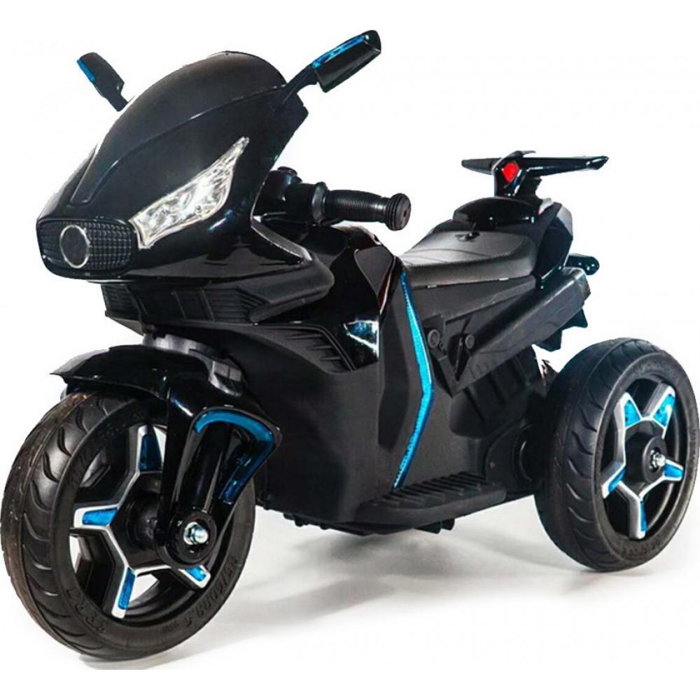 Εκθεσιακή Ηλεκτροκίνητη Παιδική Μηχανή 12V σε Μαύρο Χρώμα 6688 Forall