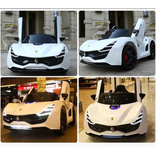 Ηλεκτροκίνητο Παιδικό Αυτοκίνητο Τύπου Ferrari 12V  Λευκό HZ7587 Ηλεκτροκίνητα αυτοκίνητα