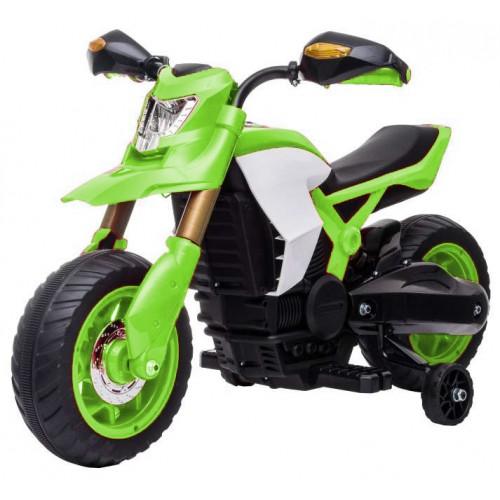 Ηλεκτροκίνητη Παιδική Μηχανή 6V σε Πράσινο Χρώμα 16454 ΠΑΙΧΝΙΔΙΑ