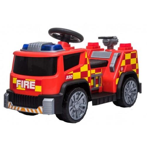 Ηλεκτροκίνητο Παιδικό Πυροσβεστικό Όχημα 6V με σειρήνα σε Κόκκινο 15455