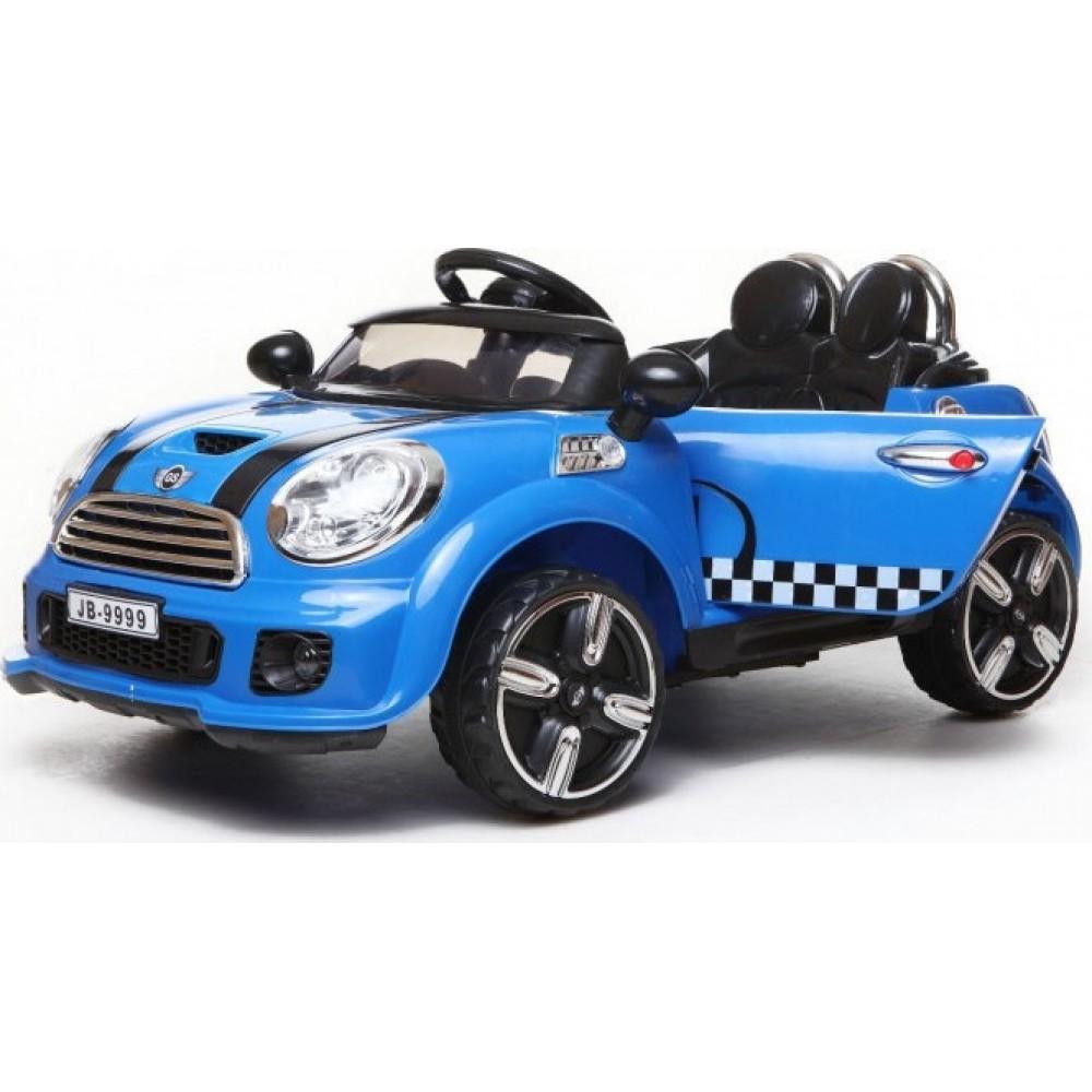 Ηλεκτροκίνητο Αυτοκίνητο τύπου Mini Cooper Style 12V με R-C Μπλε 9999