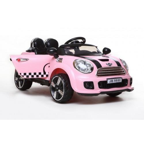 Ηλεκτροκίνητο Αυτοκίνητο τύπου Mini Cooper Style 12V με R-C Ροζ 9999 Ηλεκτροκίνητα αυτοκίνητα