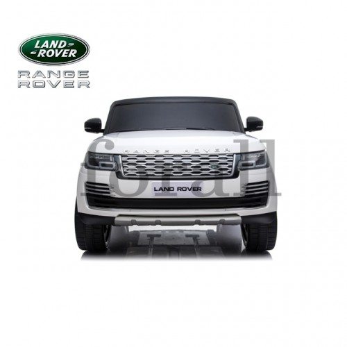 Ηλεκτροκίνητο Παιδικό Αυτοκίνητο Licensed Range Rover Vogue Διθέσιο Jeep 24V 4Χ4 με Δερμάτινα Καθίσματα και Λάστιχα Τύπου Αυτοκινήτου Λευκό 486804 Ηλεκτροκίνητα αυτοκίνητα