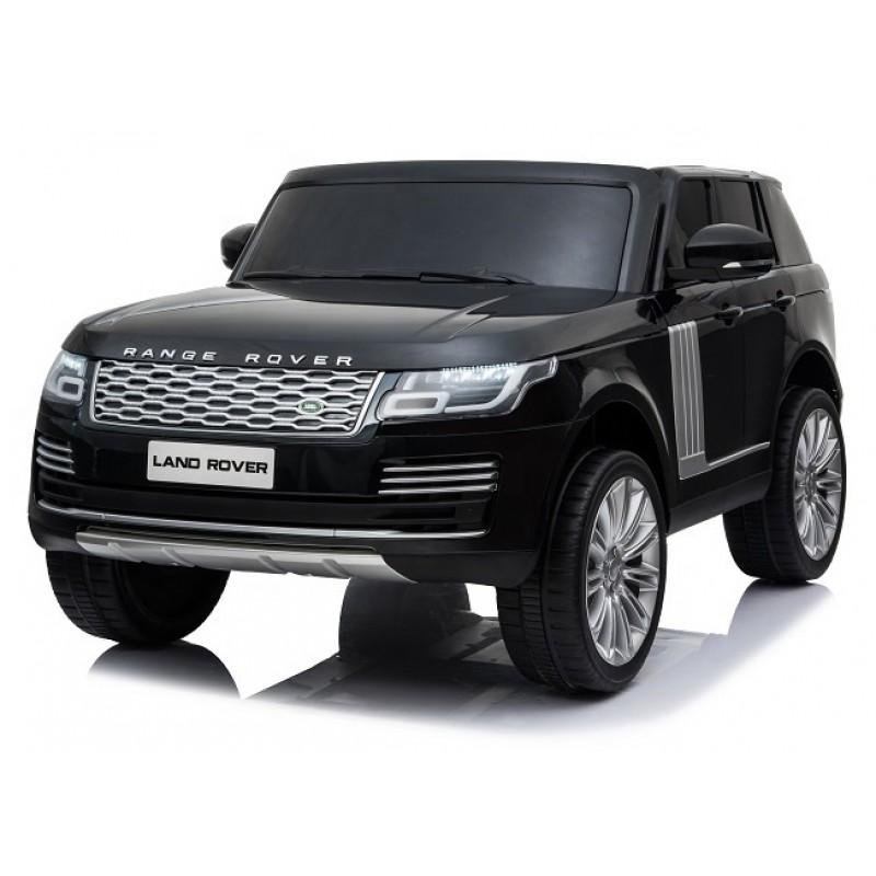 Ηλεκτροκίνητο Παιδικό Αυτοκίνητο Licensed Range Rover Vogue Διθέσιο Jeep 24V 4Χ4 με Δερμάτινα Καθίσματα και Λάστιχα Τύπου Αυτοκινήτου Μαύρο 486804 Ηλεκτροκίνητα αυτοκίνητα