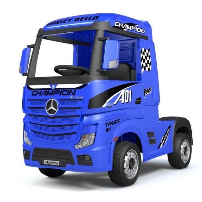 Ηλεκτροκίνητο Παιδικό Φορτηγό Mercedes Benz Actros Licensed 12V με Δερμάτινο Κάθισμα και Λάστιχα Τύπου Αυτοκινήτου Μπλε 578703 Ηλεκτροκίνητα αυτοκίνητα