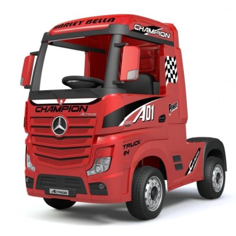 Ηλεκτροκίνητο Παιδικό Φορτηγό Mercedes Benz Actros Licensed 12V με Δερμάτινο Κάθισμα και Λάστιχα Τύπου Αυτοκινήτου Κόκκινο 578703 Ηλεκτροκίνητα αυτοκίνητα