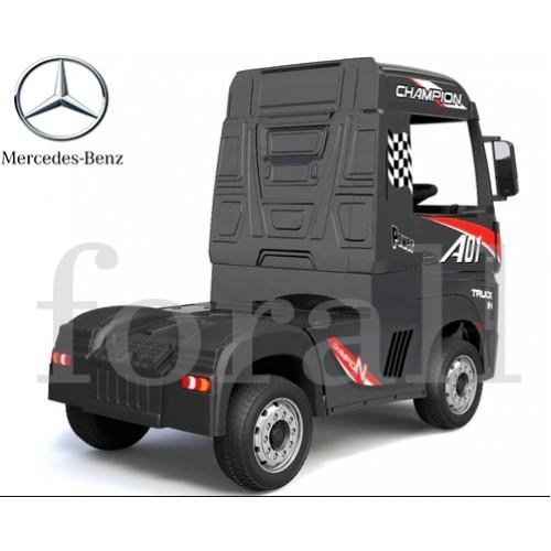 Ηλεκτροκίνητο Παιδικό Φορτηγό Mercedes Benz Actros Licensed 12V με Δερμάτινο Κάθισμα και Λάστιχα Τύπου Αυτοκινήτου Μαύρο 578703 Ηλεκτροκίνητα αυτοκίνητα