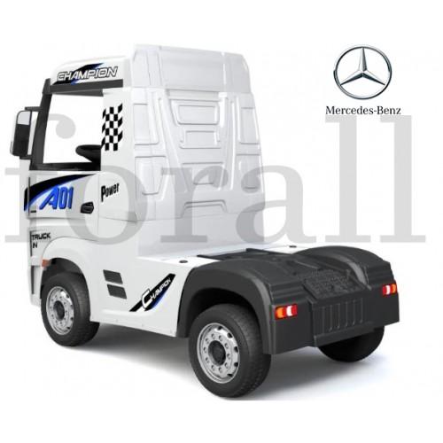 Ηλεκτροκίνητο Παιδικό Φορτηγό Mercedes Benz Actros Licensed 12V με Δερμάτινο Κάθισμα και Λάστιχα Τύπου Αυτοκινήτου Λευκό 578703 Ηλεκτροκίνητα αυτοκίνητα