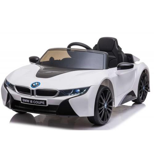 New Edition Ηλεκτροκίνητο Παιδικό Αυτοκίνητο Licensed BMW I8 με δερμάτινο κάθισμα και ελαστικά 12V Λευκό Ε1001  Ηλεκτροκίνητα αυτοκίνητα